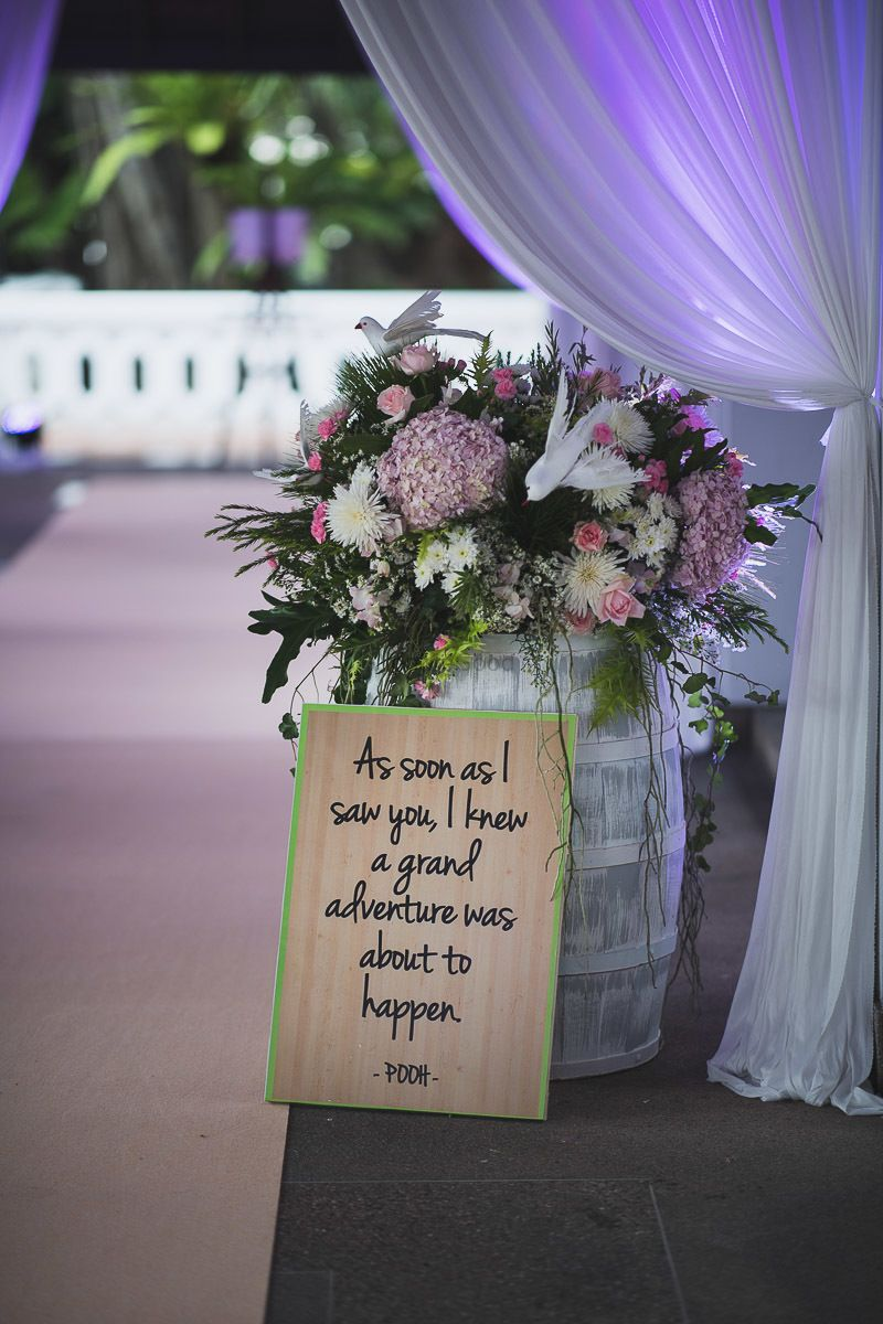 Photo of Love quote in decor on wood