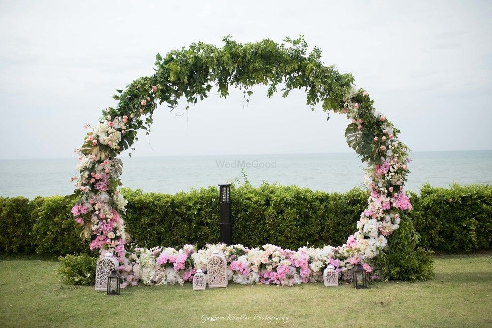 Photo of Floral photobooth giant wreath