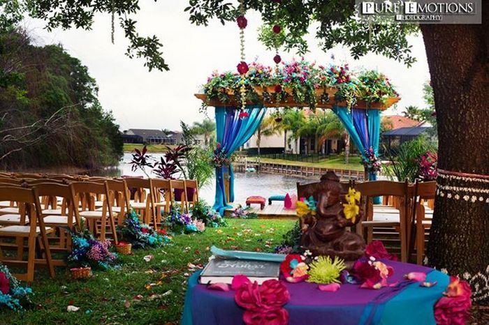 Photo of tropical mandap