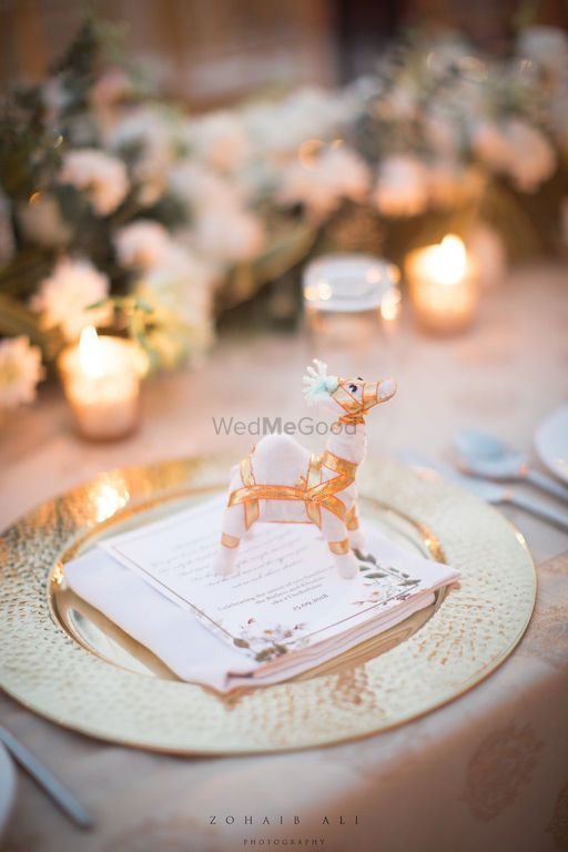 Photo of Unique favour ideas for guests with gift on table