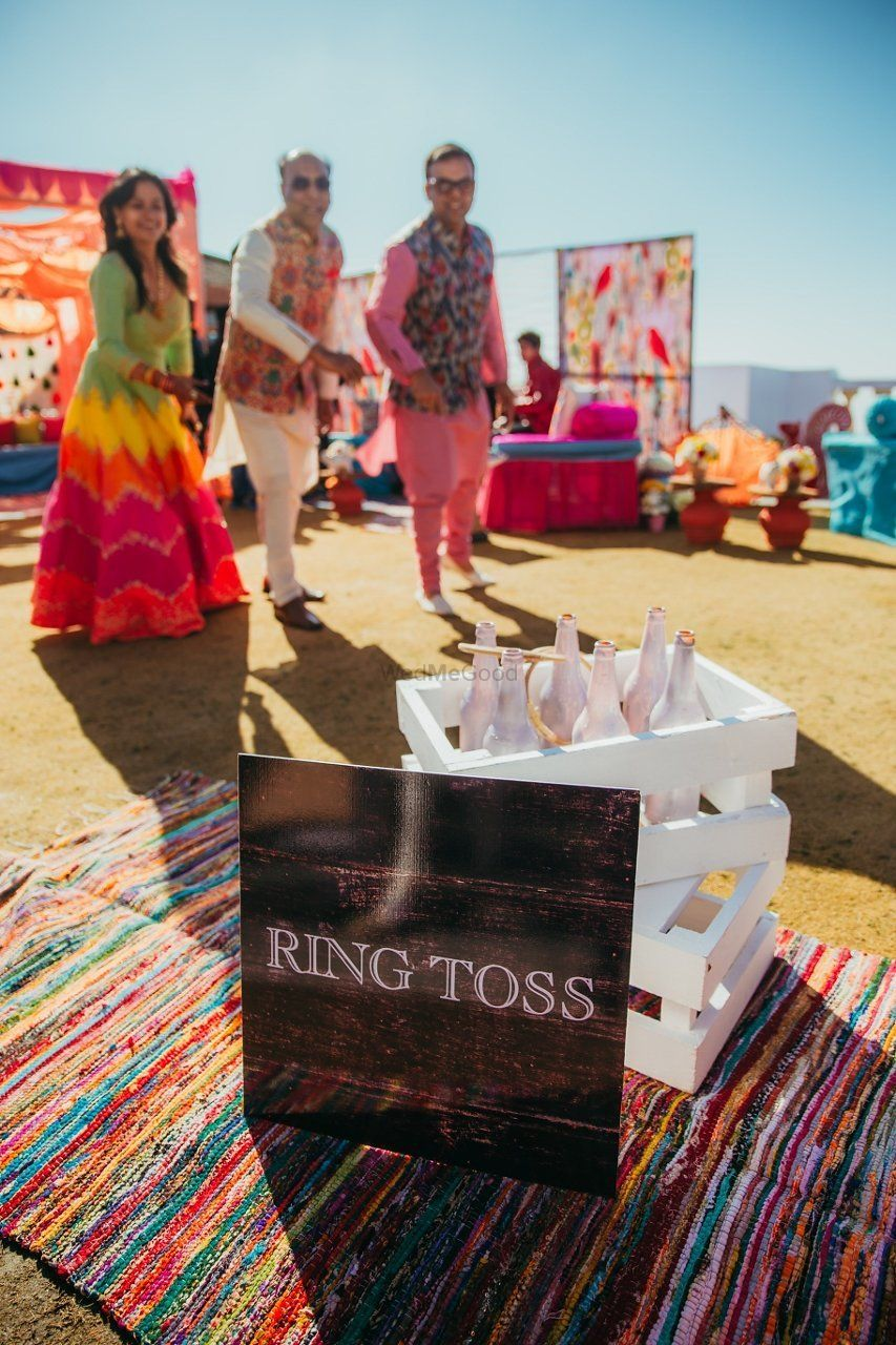 Photo of Mehendi game for guests ring toss