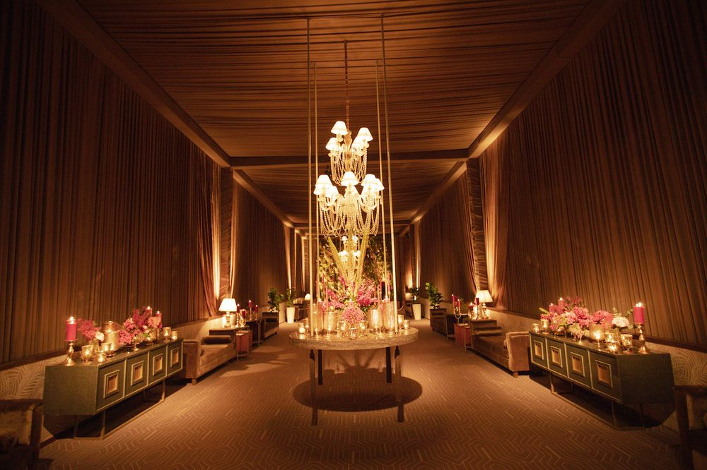 Photo of glam cocktail entrance decor idea with lighting