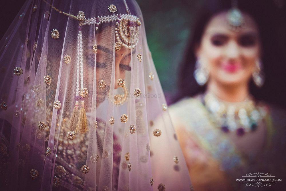 Wedding Photoshoot & Poses Photo Veil photo