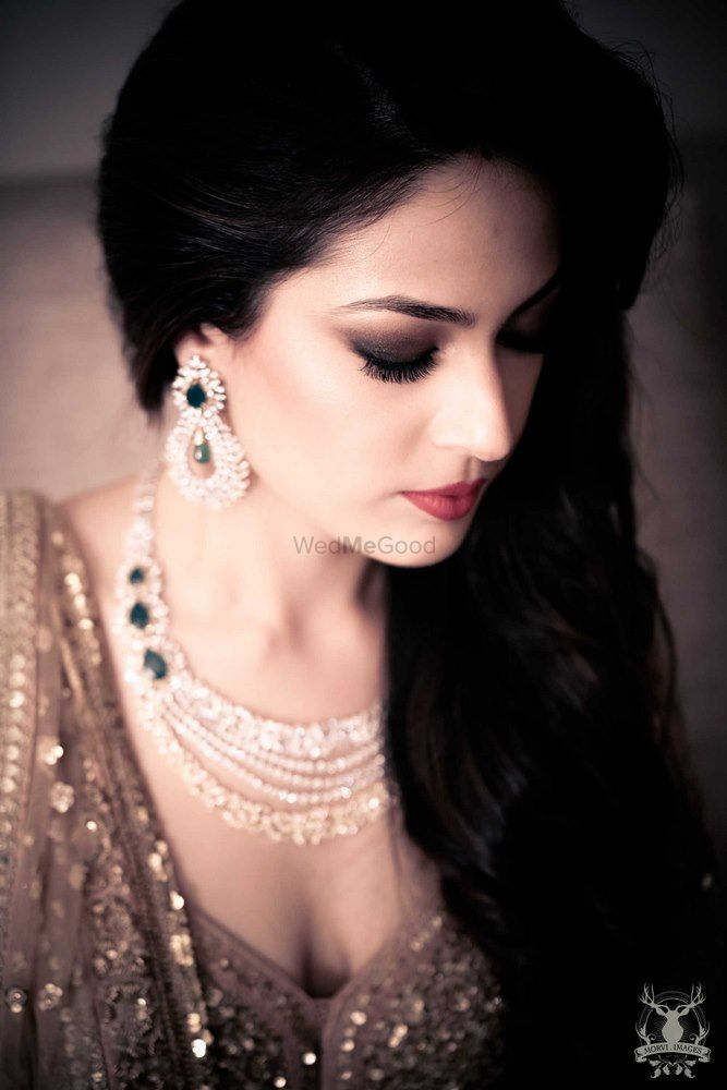 Photo of Emerald and Diamond Jewellery for Sangeet