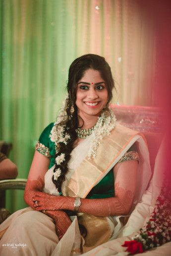 Photo of south indian bridal hairstyles