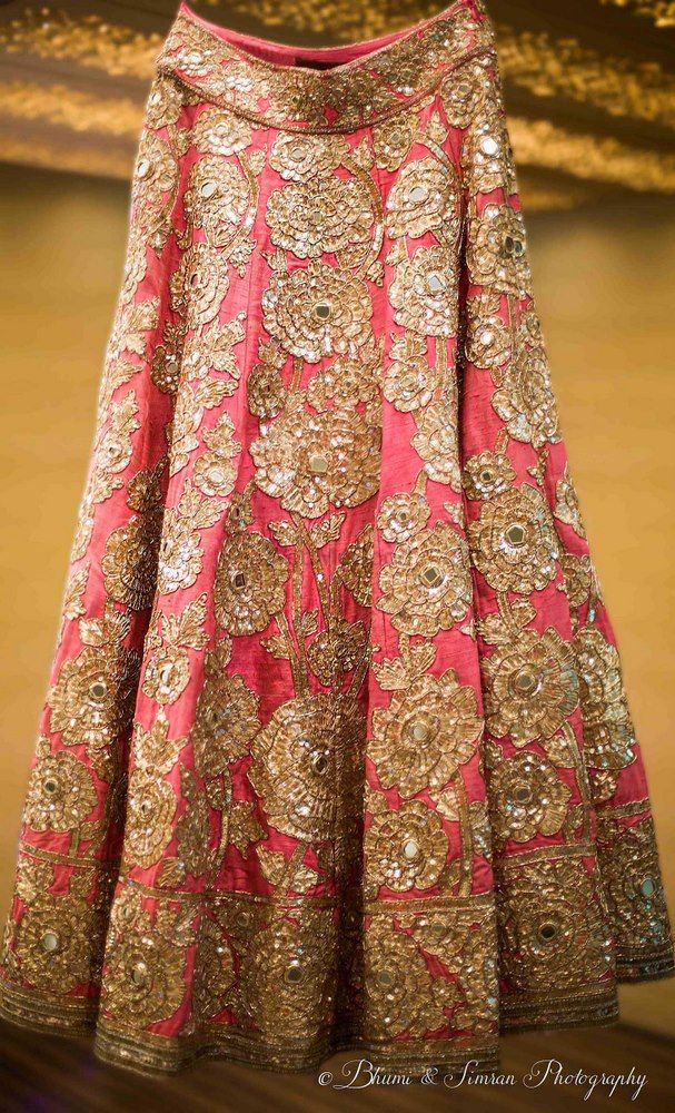Photo of Light pink and silver lehenga