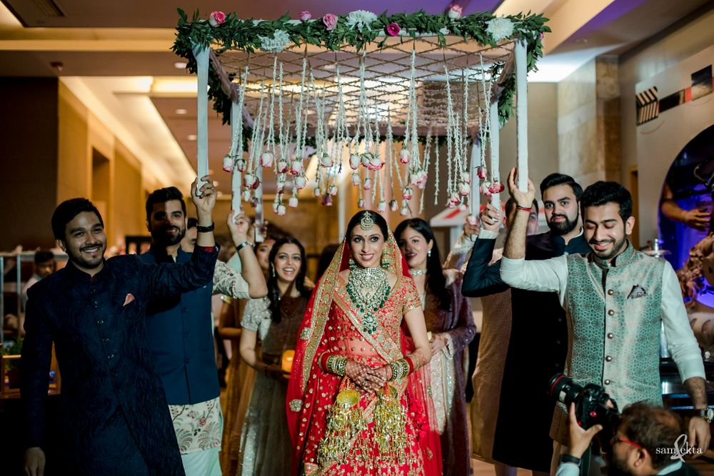 Photo of Beautiful bridal entry captured just as the bride entered the venue