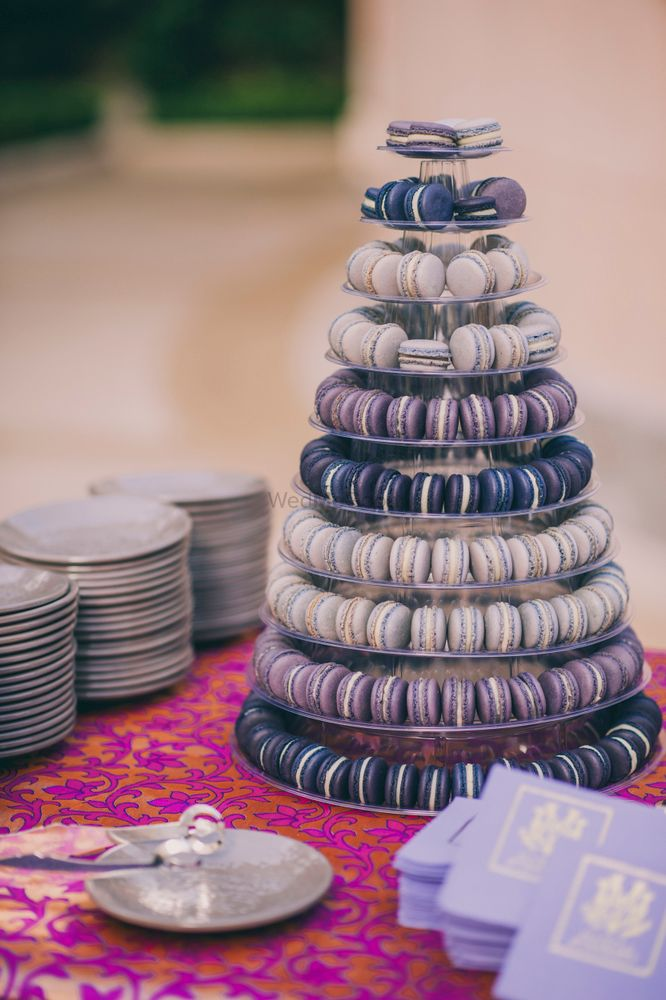 Photo of Lavender macaroon plates