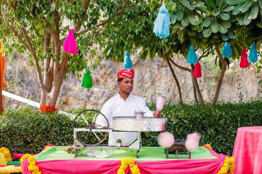 Photo of Cute mehendi food idea cotton candy stall