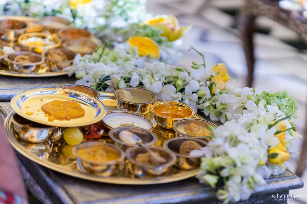 Photo of Food serving ideas with floral decor