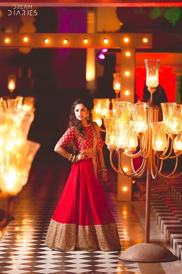 Photo of Red bridal lehenga