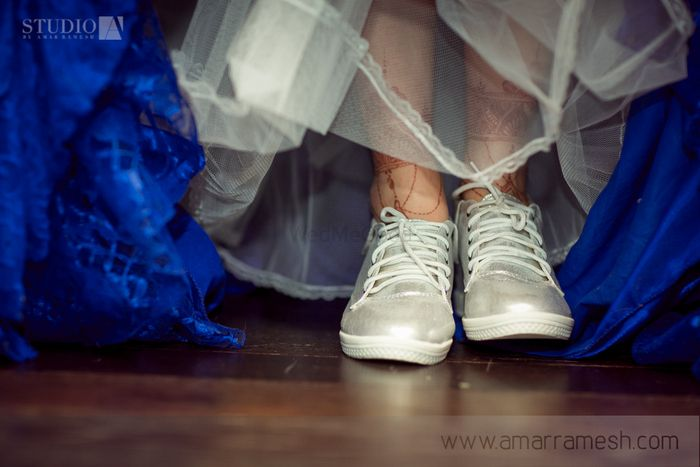 Photo of silver sneakers