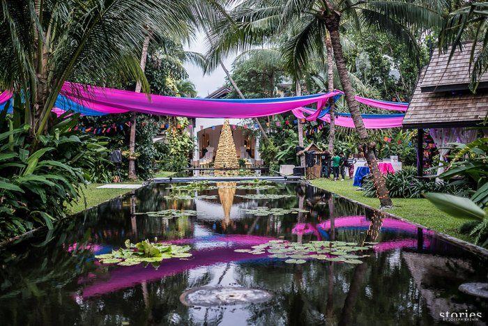 Photo of purple drapes