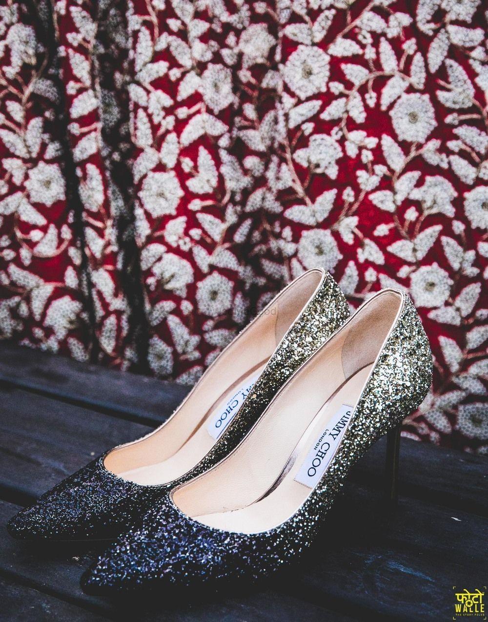 Photo of Silver bridal jimmy choo heels