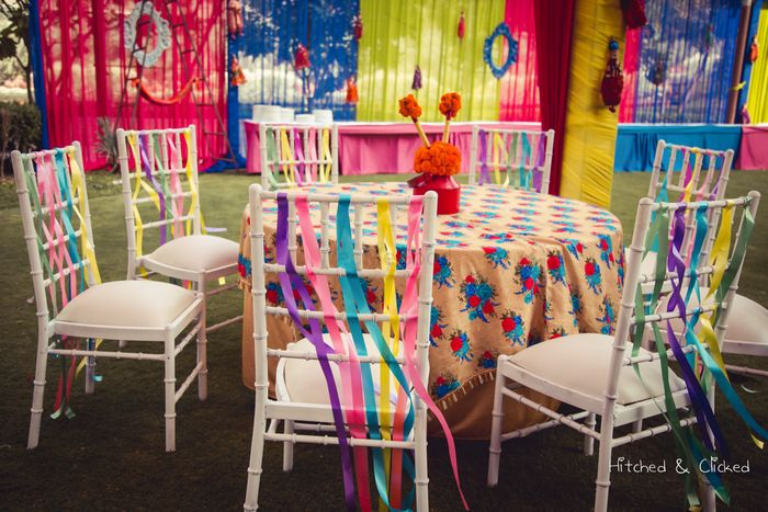 Photo of Floral printed table linen