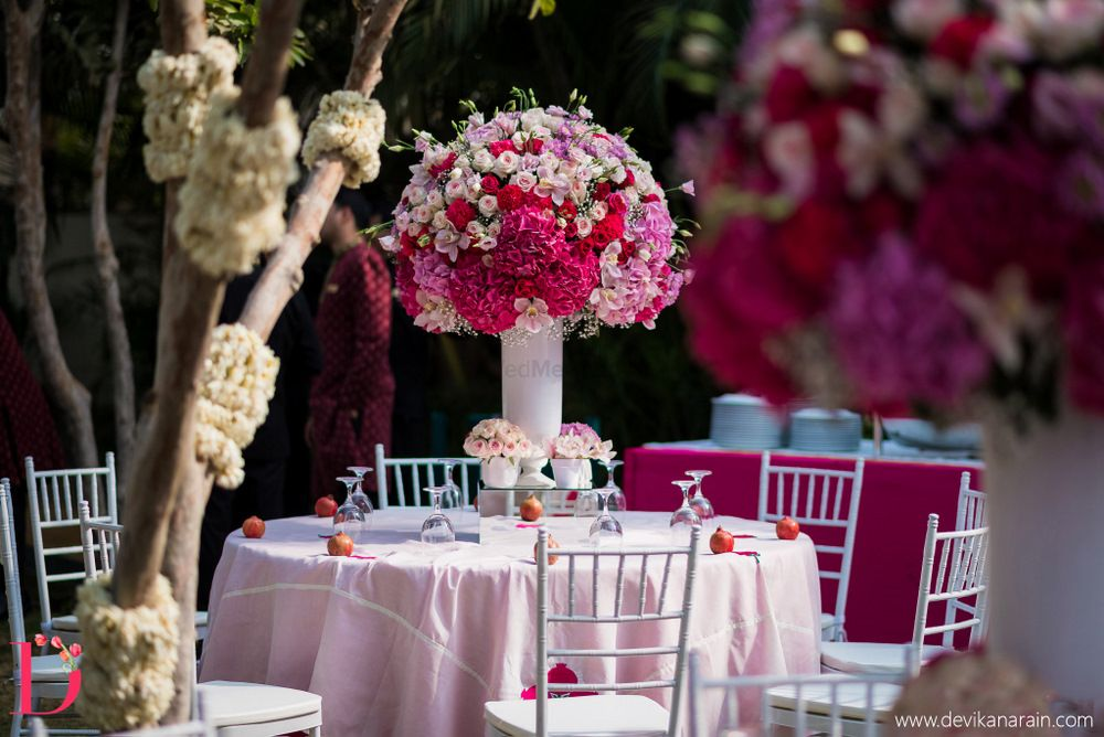 Photo of Floral centerpieces for mehendi