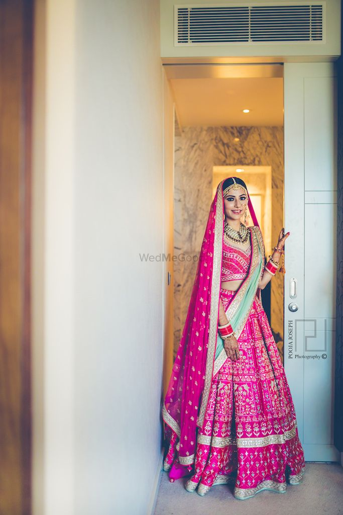 Photo of Anita Dongre pink and mint lehenga