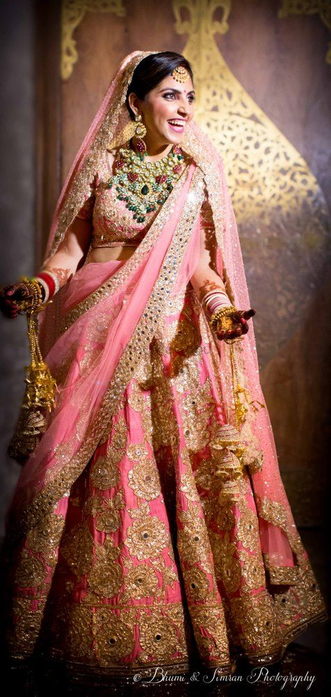 Photo of Pink bridal lehenga by Manish malhotra