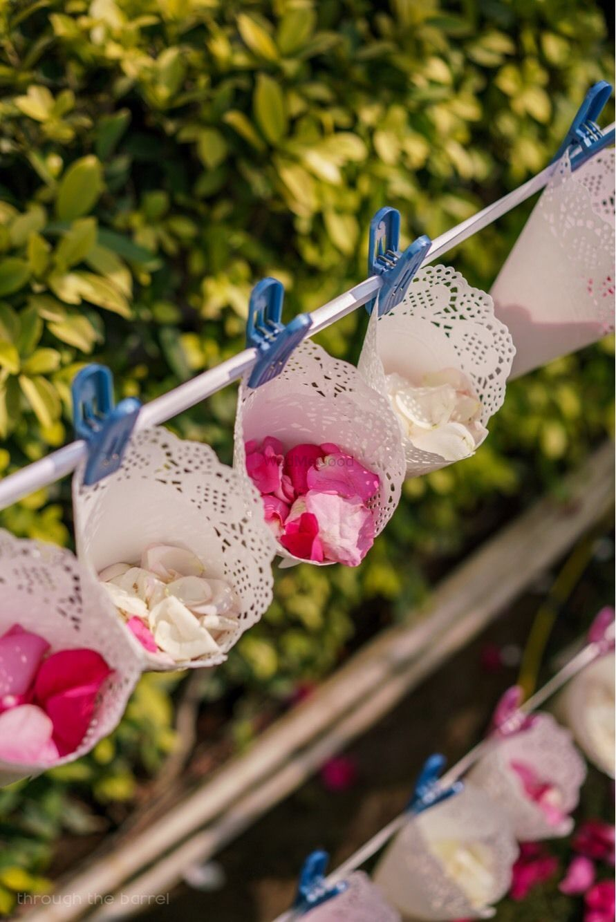 Photo of Flower petals in cones for guests to throw