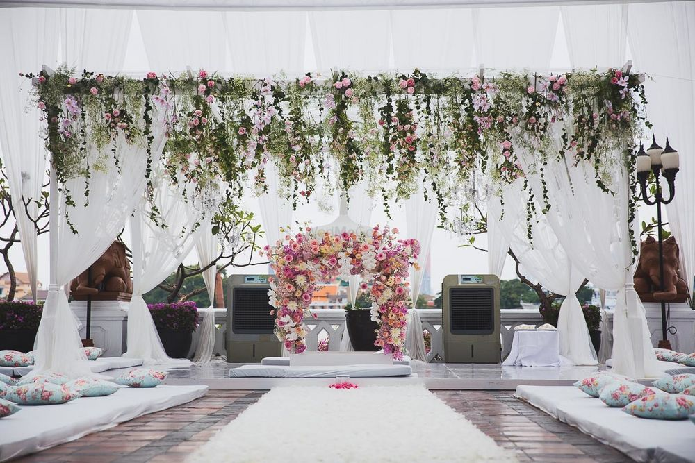 Photo of Fairytale mandap with creepers