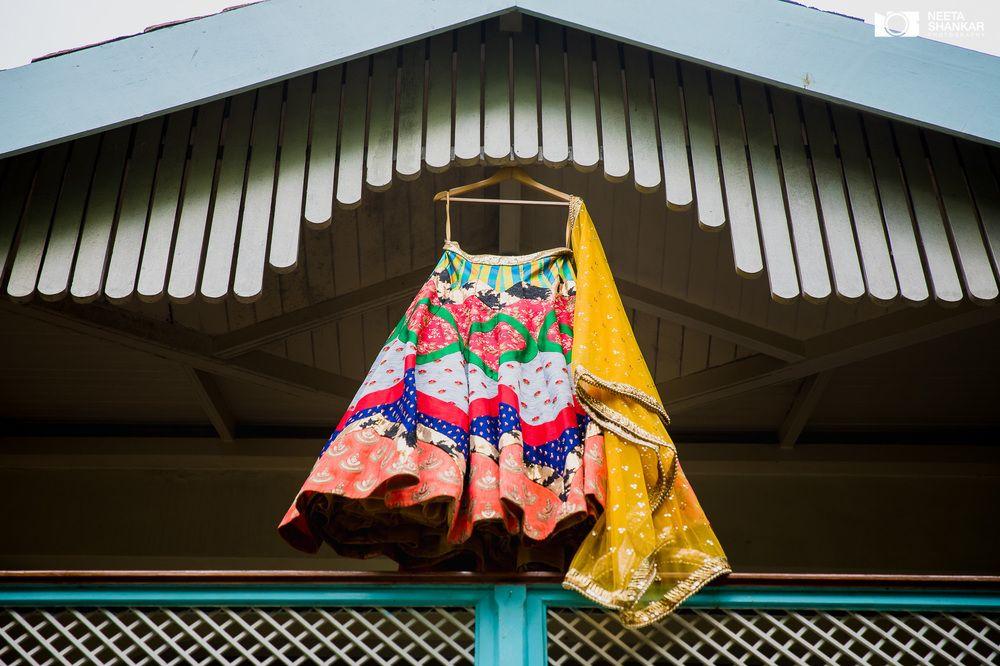 Photo of Quirky lehenga on hanger