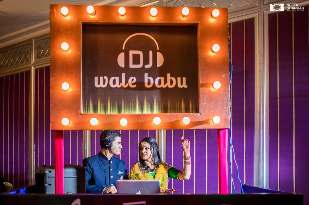 Photo of Sangeet decor DJ console idea