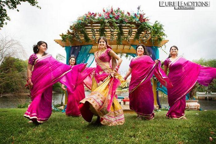 Photo of bridesmaid saree