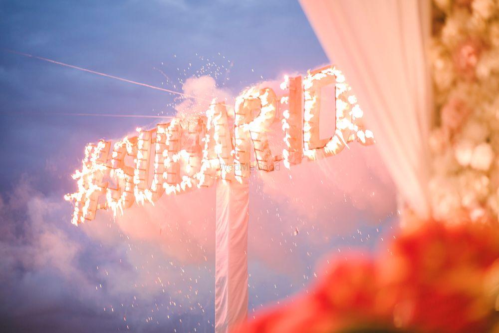 Photo of Unique idea to display wedding hashtag