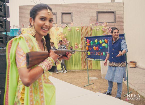 Photo of Shoot the balloon game at mehendi