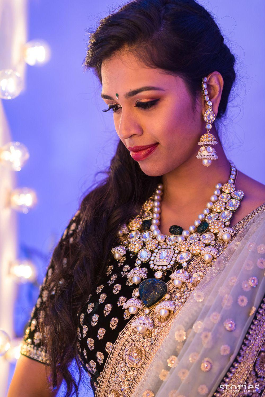 Photo of Sangeet jewellery with enamel work meenakari set