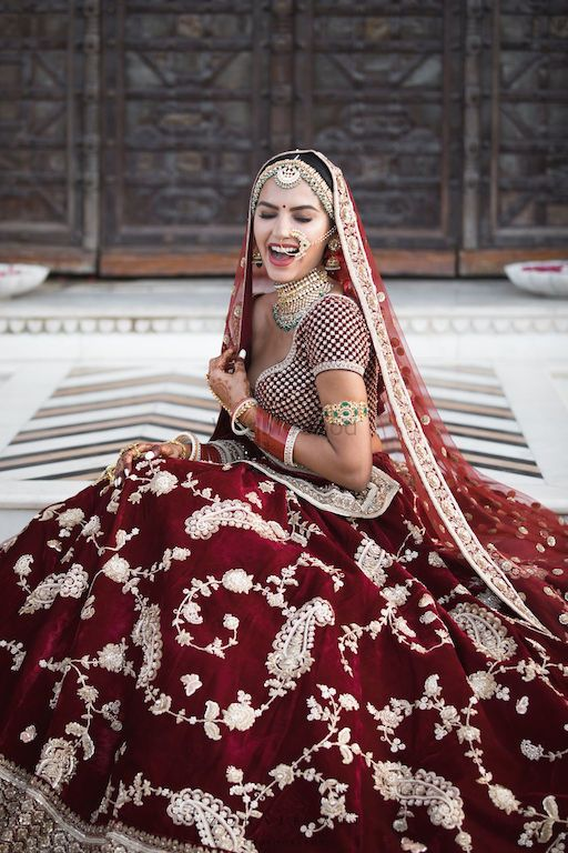 Photo of Happy bride shot in sabya lehenga