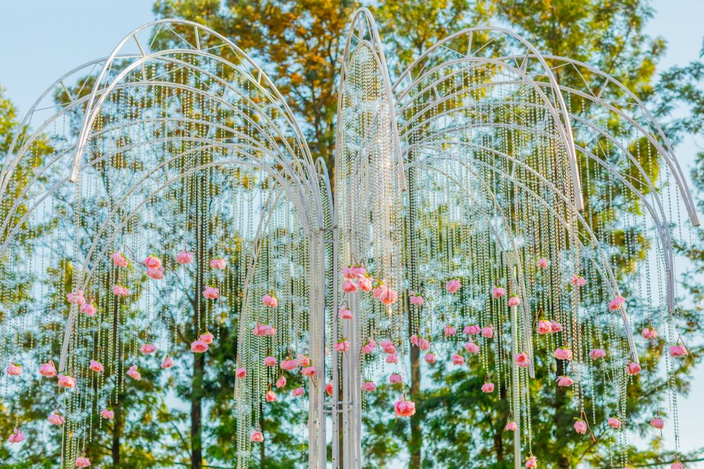Photo of Beautiful floral hanging decor with pearl strings