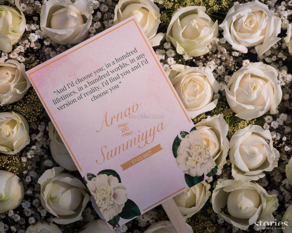 Photo of Modern simple wedding card