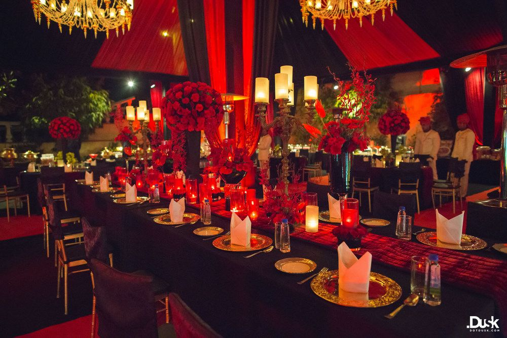 Red Wedding Decor Photo