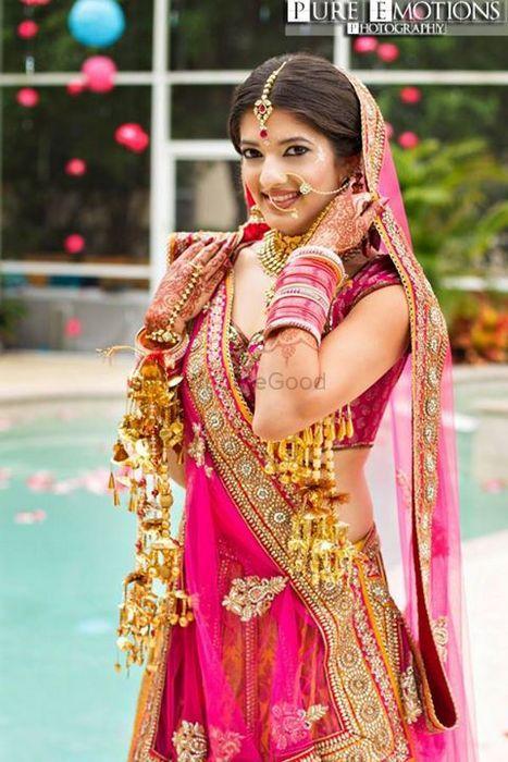 Bright Pink Bridal Lehenga Photo