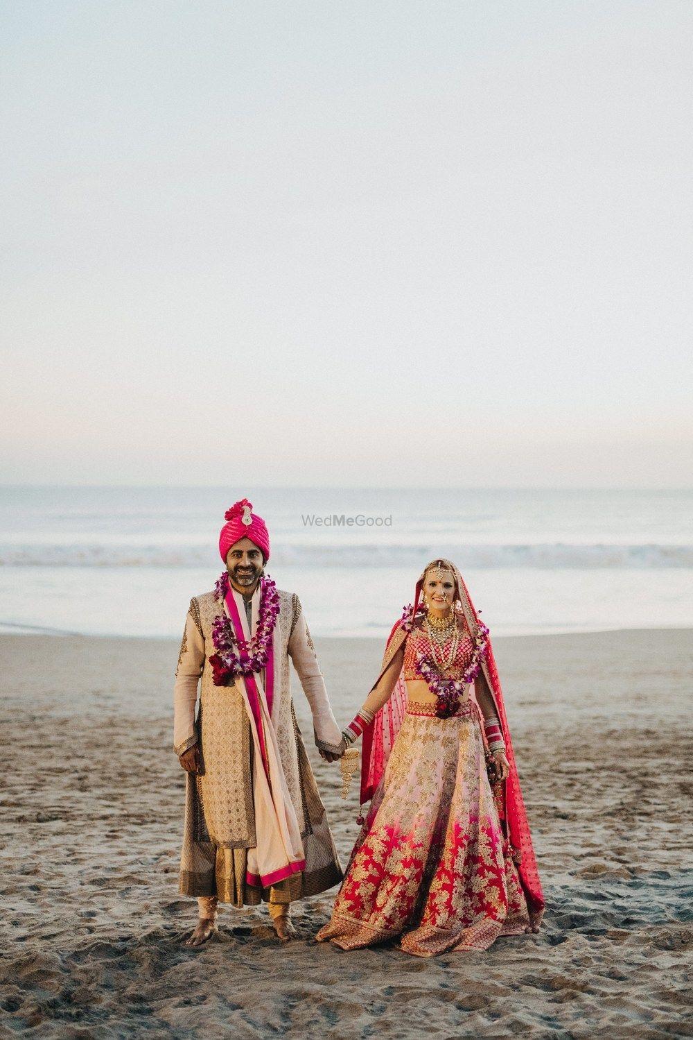 Photo of Post wedding shoot after beach wedding