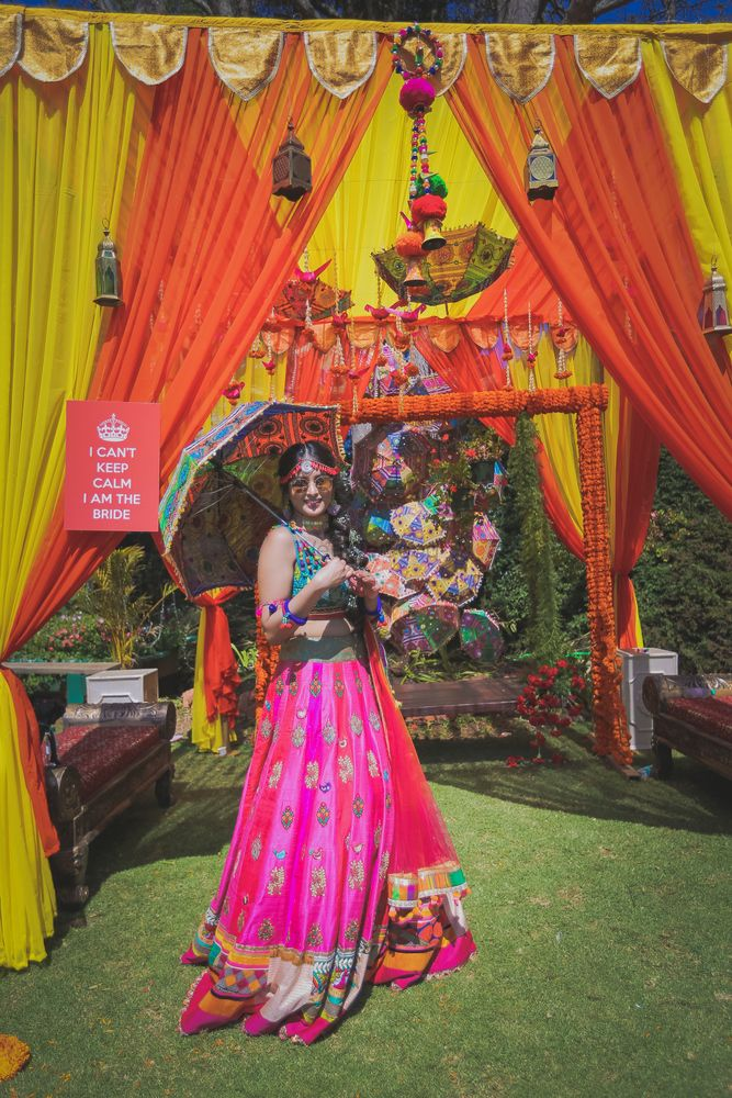 Bright Pink Outfits Photo Multicolored lehenga