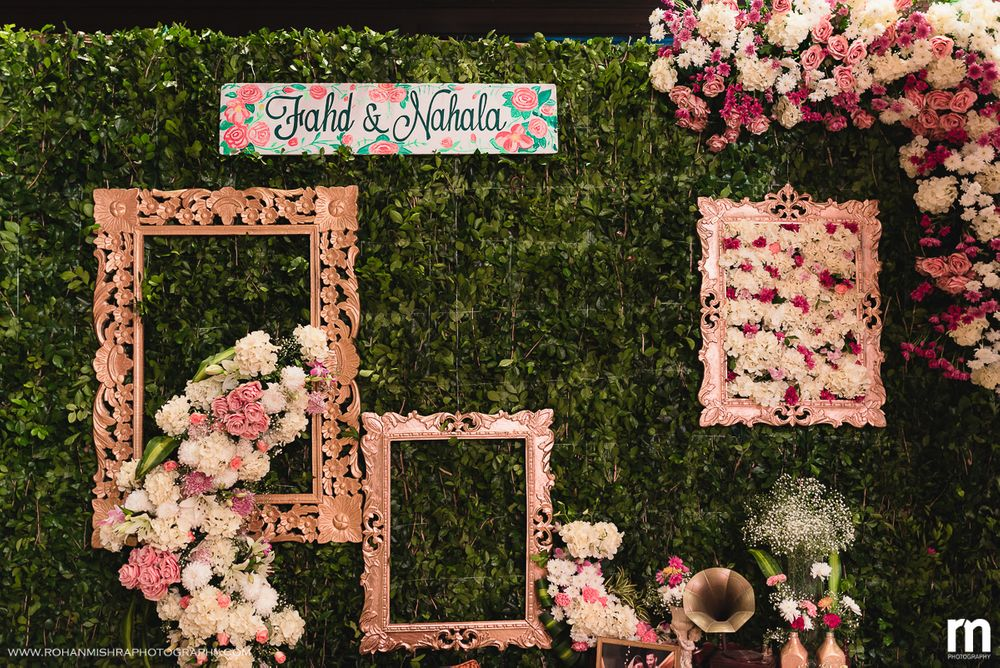 Photo of Unique floral photo booth with frames