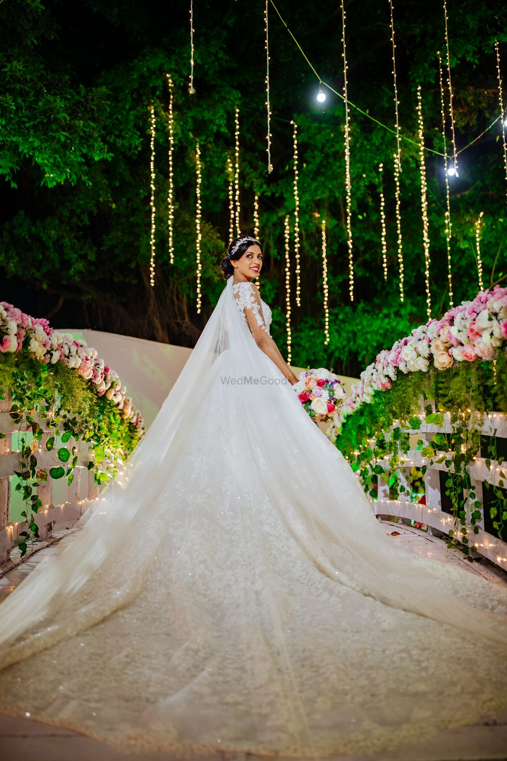 Photo of Bride in a beautiful white gown.