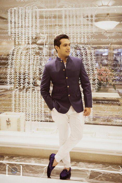 Photo of jodhpuri blue and white trousers