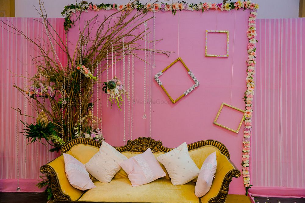 Photo of Light pink stage decor