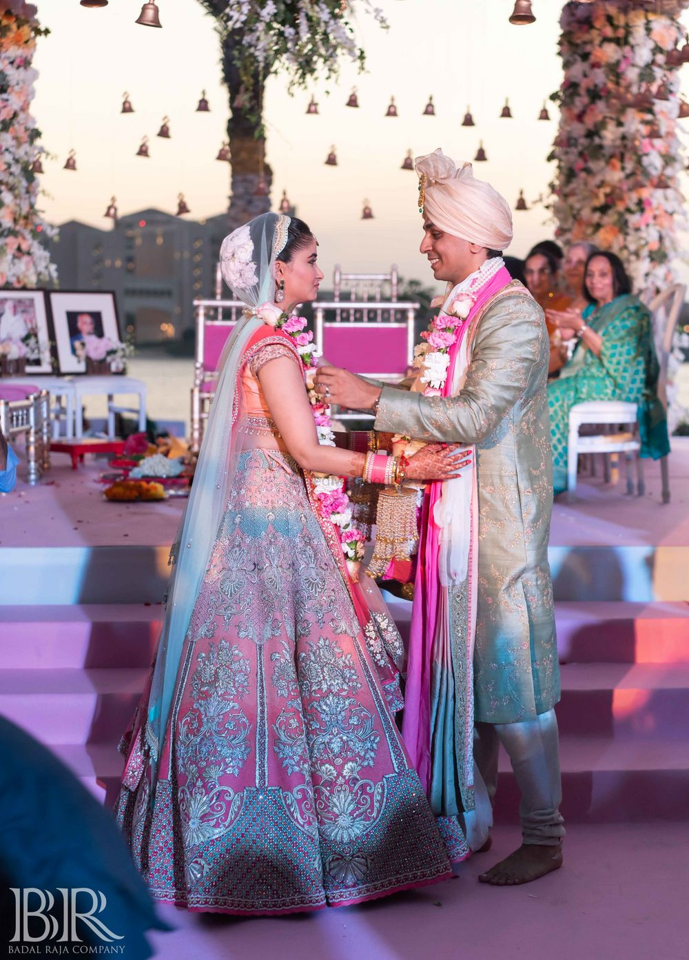 Photo of Ecru bridal ombre lehenga