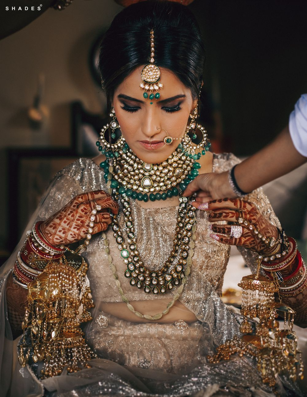 Photo of A bride getting ready for her Anand Karaj