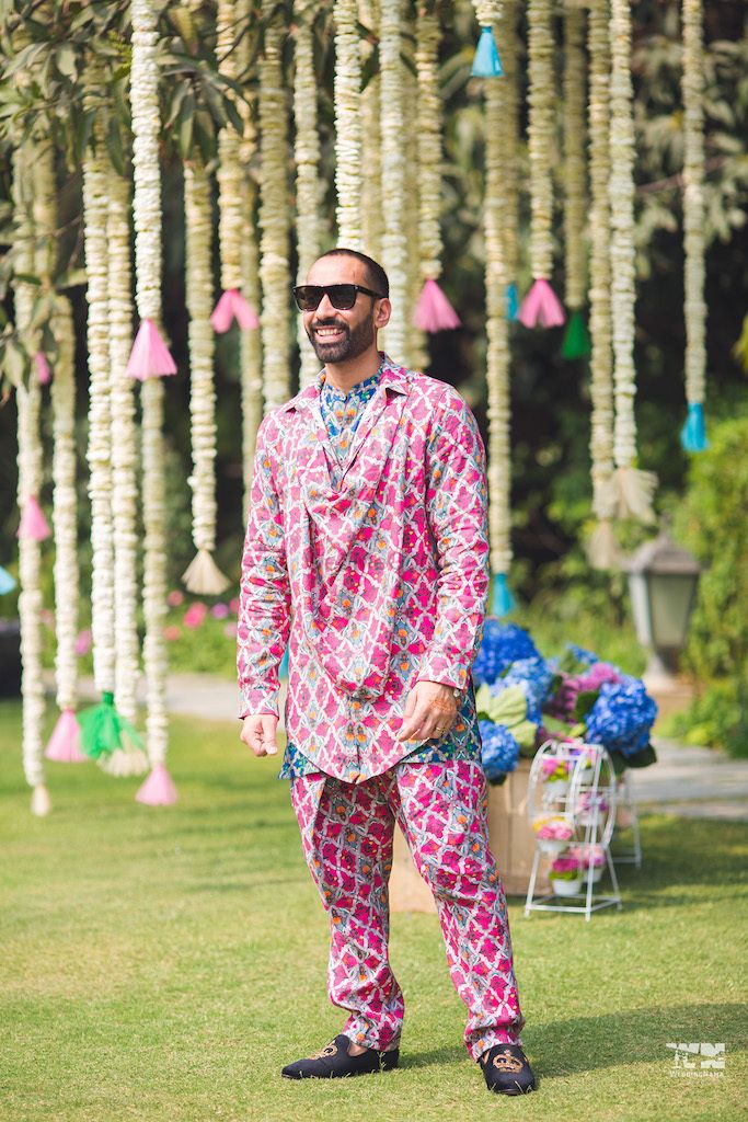 Photo of Quirky mehendi groomwear