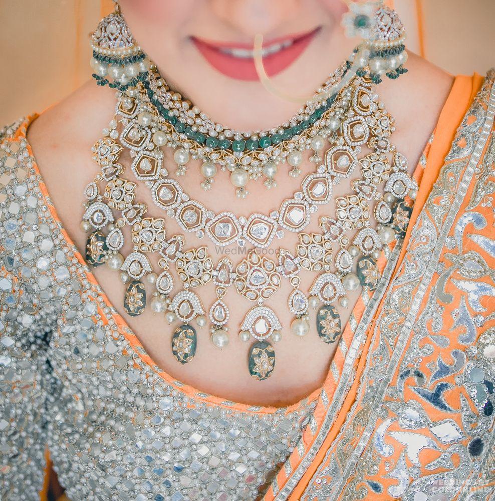 Orange Wedding Jewellery Photo gold necklace