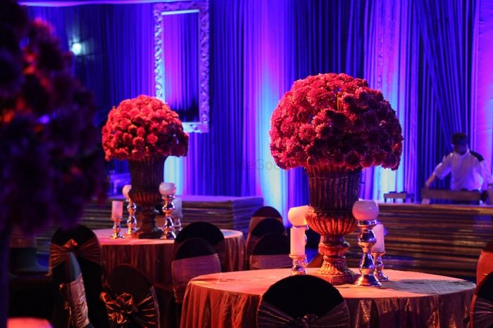 Photo of large centerpieces