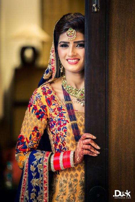 Photo of orange anarkali