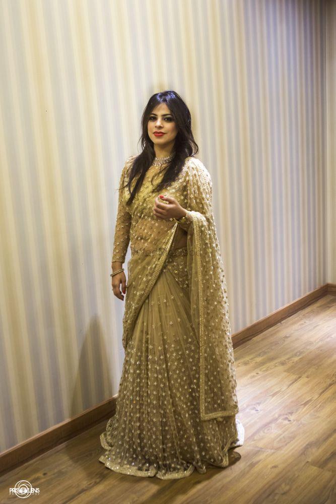 Photo of gold saree