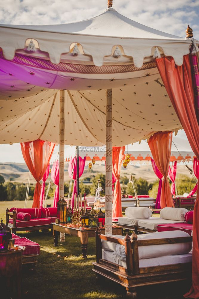 Photo of Moroccan theme decor for Sangeet