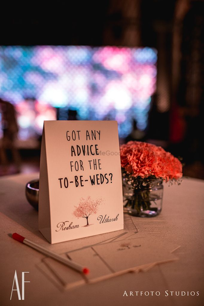 Photo of Marriage advice notes for guests